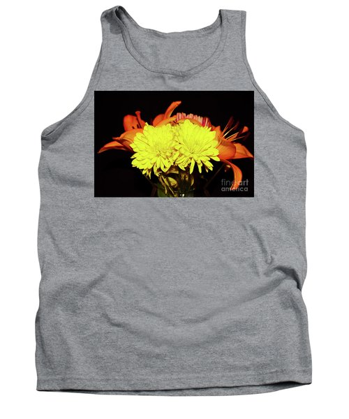 Yellow Mums And Orange Lilies  Tank Top