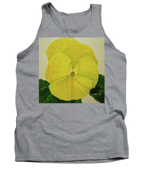 Yellow Pansy Tank Top by Wendy Shoults