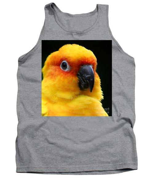 Yellow Parrot Closeup Tank Top