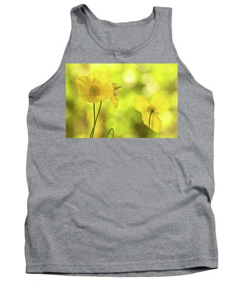 Tank Top featuring the photograph Yellow Poppies - California Poppy Flower by Peggy Collins