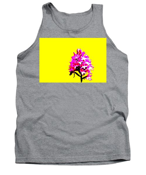 Yellow Pyramid Orchid Tank Top by Richard Patmore