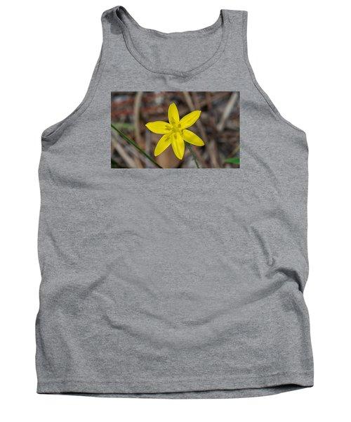 Yellow Star Grass Flower Tank Top by Kenneth Albin