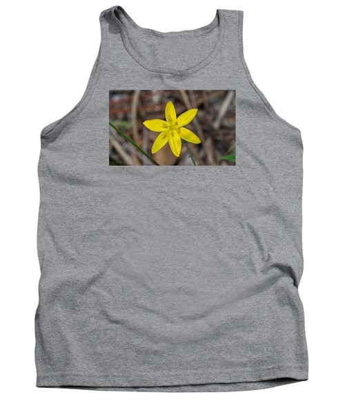 Yellow Star Grass Flower Tank Top