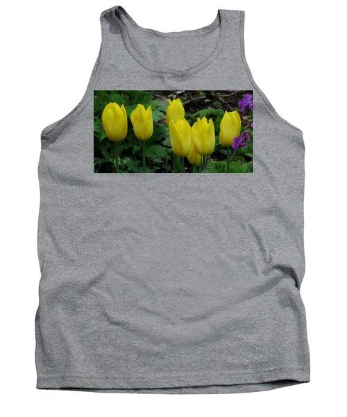 Yellow Tulips Tank Top by John Topman