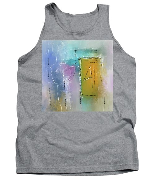 Yellows And Blues Tank Top