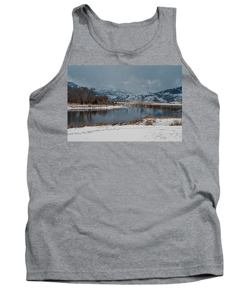 Yellowstone River In Light Snow Tank Top