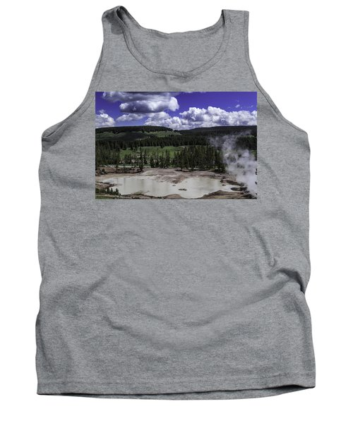 Tank Top featuring the photograph Yellowstone Tar Pits by Jason Moynihan
