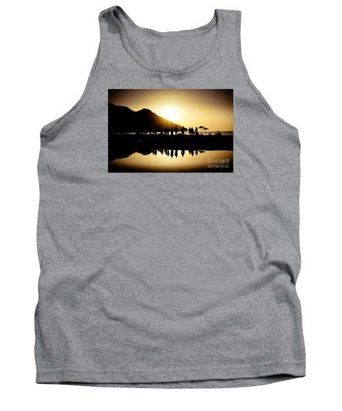Yoga Sunrise At Sea Coast Tank Top