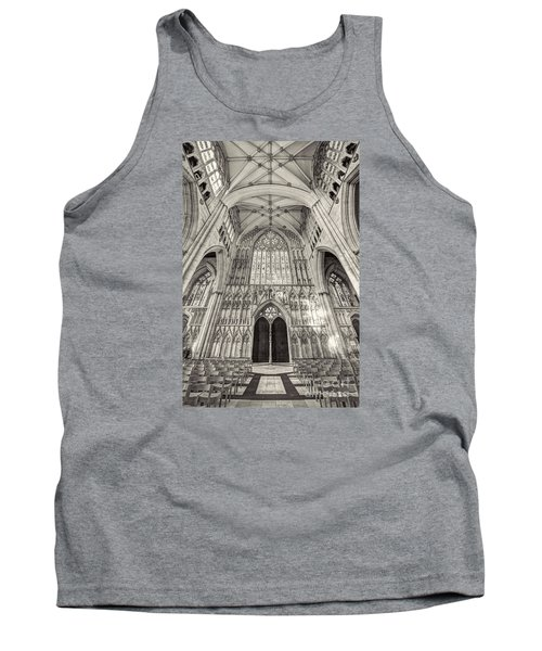 Tank Top featuring the photograph York Minster Uk by Jack Torcello