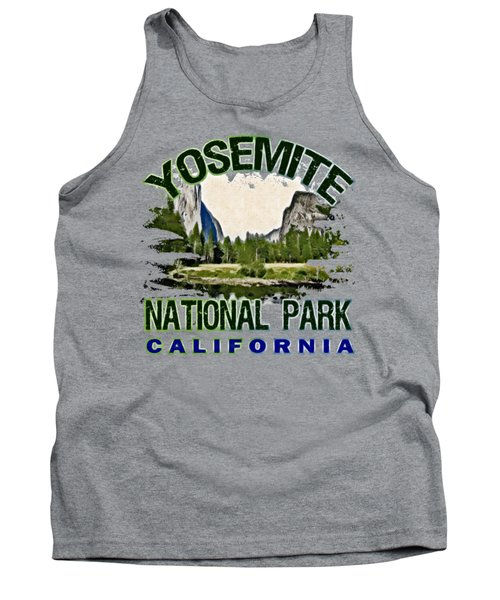 Yosemite National Park Tank Top by David G Paul