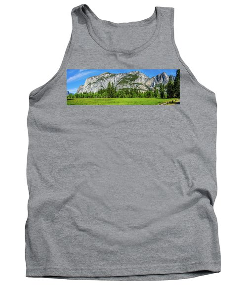 Yosemite West Valley Meadow Panorama #2 Tank Top
