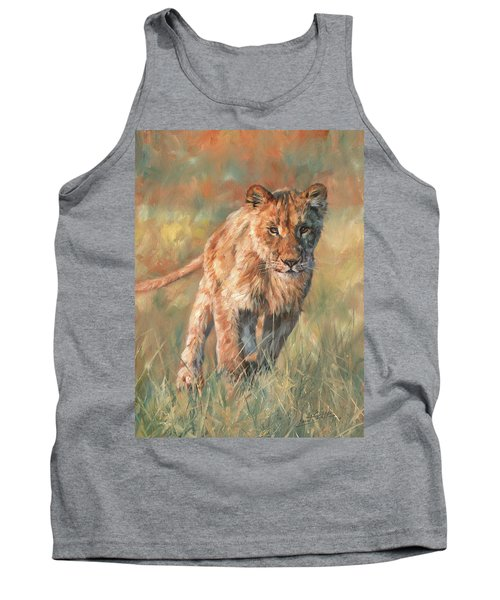 Tank Top featuring the painting Youn Lion by David Stribbling