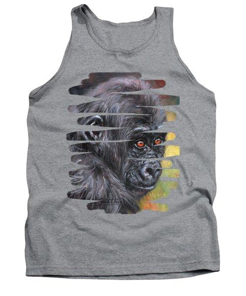 Young Gorilla Portrait Tank Top