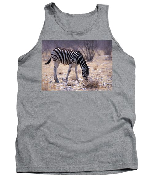 Tank Top featuring the digital art Young Plains Zebra by Ernie Echols