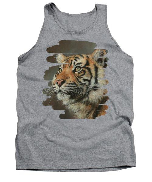 Young Sumatran Tiger Portrait Tank Top
