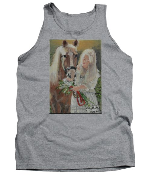 Young Woman With Horse Tank Top by Francine Heykoop