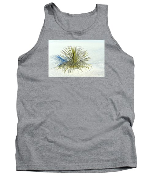 Tank Top featuring the photograph Yucca In White Sand by Jerry Cahill