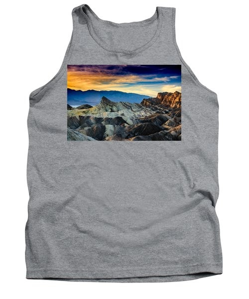 Tank Top featuring the photograph Zabriskie Point At Sundown by Janis Knight