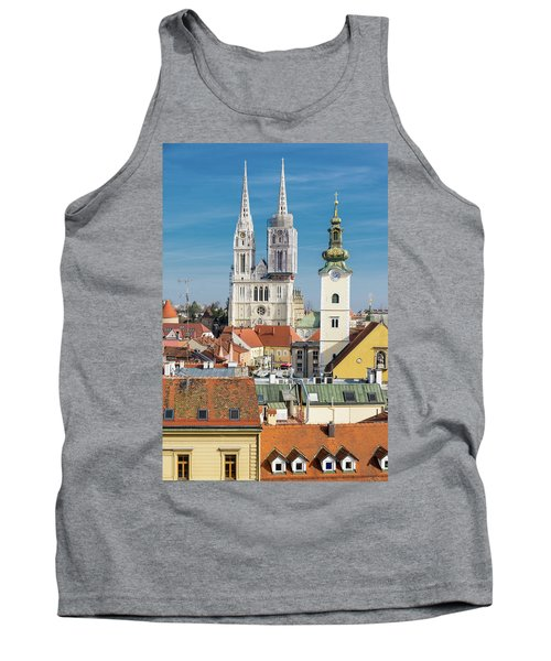 Zagreb Cathedral And St. Mary's Church Tank Top by Steven Richman