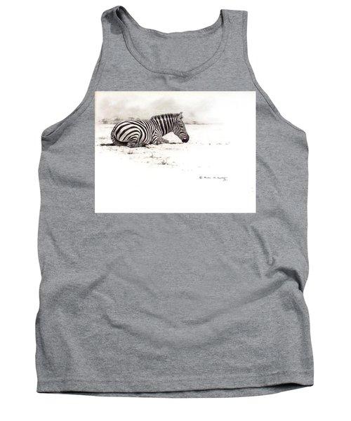 Zebra Sketch Tank Top
