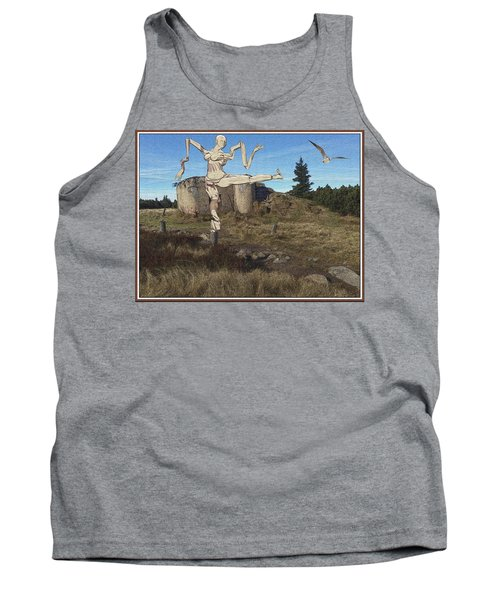 Zombie Near The Ruins Tank Top