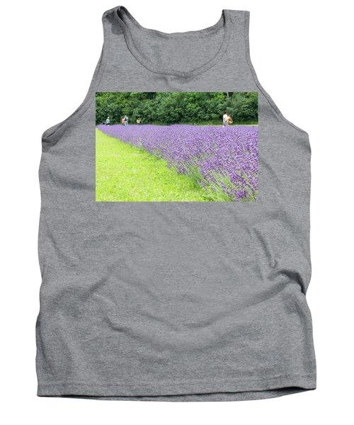 Blue Lavender Tank Top