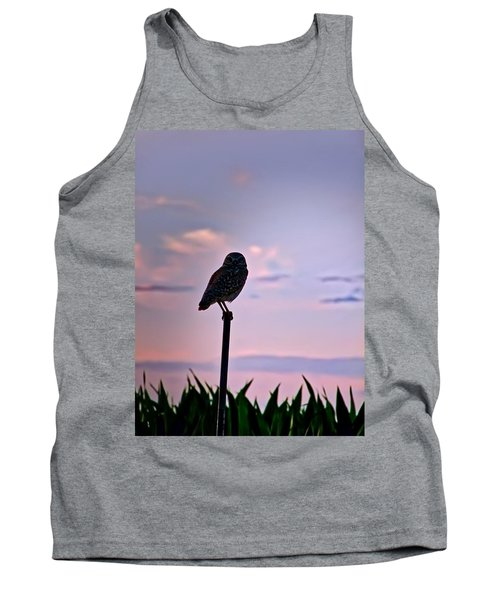 Burrowing Owl On A Stick Tank Top