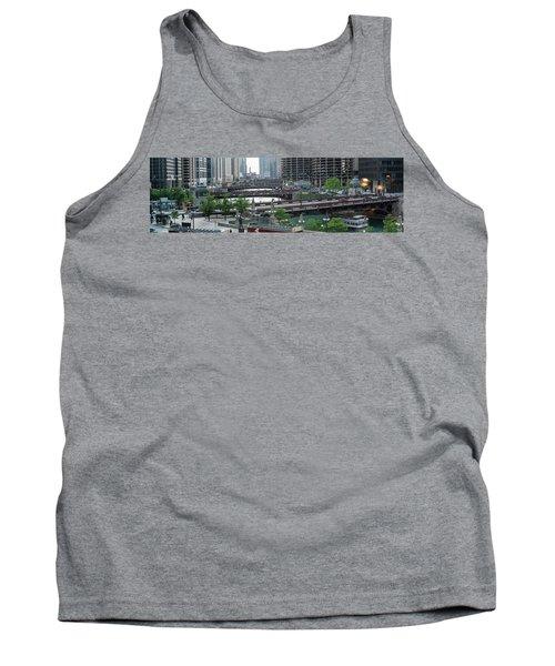 Chicago River Panorama Tank Top