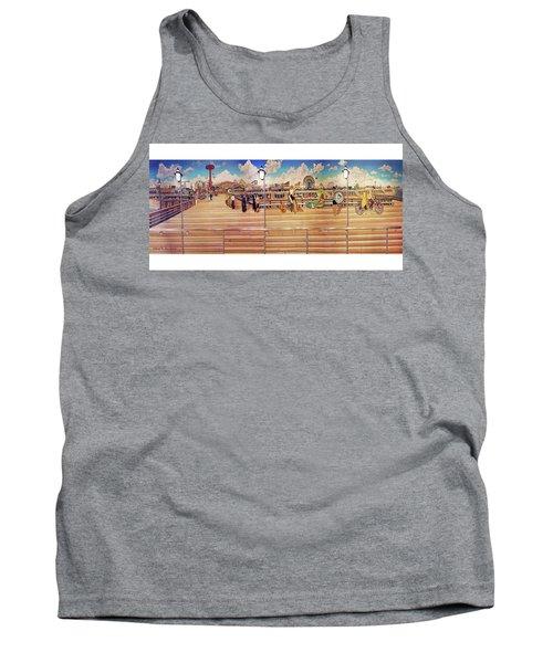 Coney Island Boardwalk Towel Version Tank Top