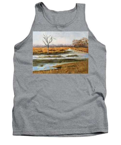 Early Spring On The Marsh Tank Top