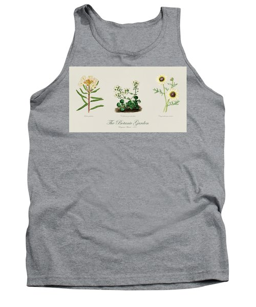 19th Century Botanical Illustrations Of Flowers From The Botanic Garden By Benjamin Maund Tank Top