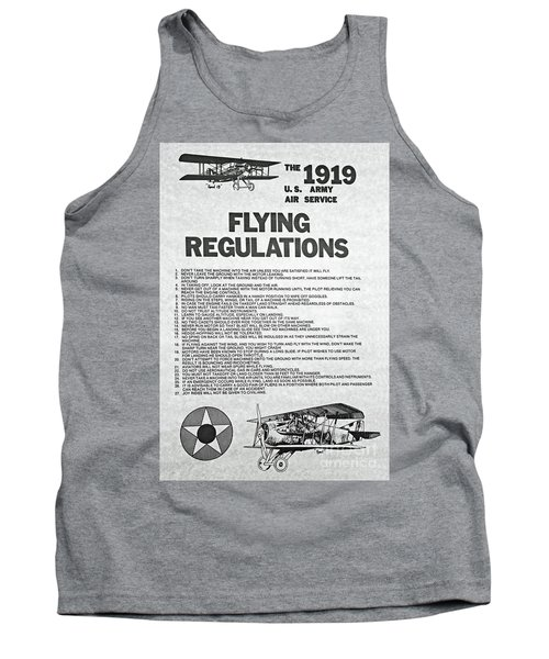 1919 Flying Regulations Poster Tank Top