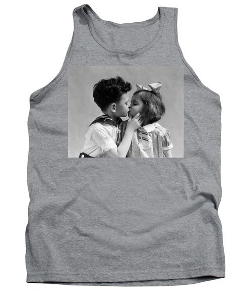 1930s Two Children Young Boy And Girl Tank Top