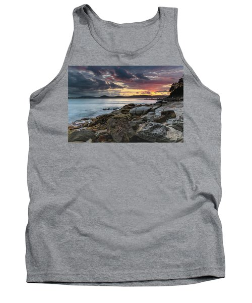 Colours Of A Stormy Sunrise Seascape Tank Top