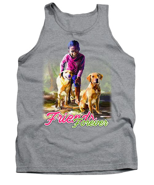 Boy And His Dogs Tank Top