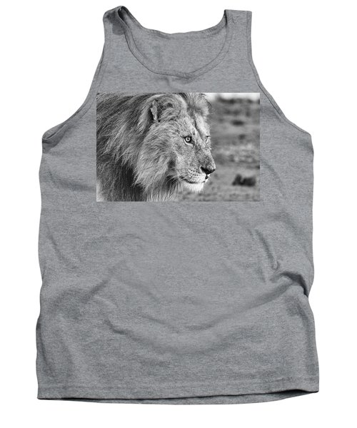 A Monochrome Male Lion Tank Top