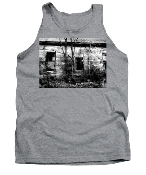 Abandoned In Black And White Tank Top
