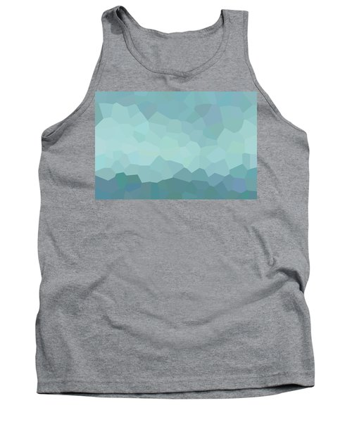 Abstract Blue Dim Landscape Tank Top