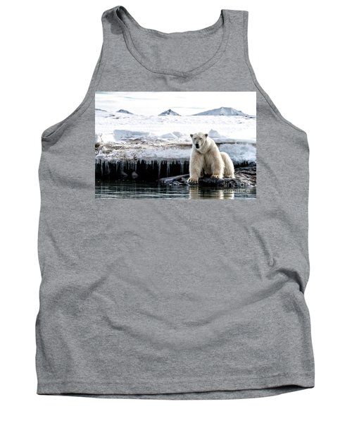 Adult Male Polar Bear At The Ice Edge In Svalbard Tank Top