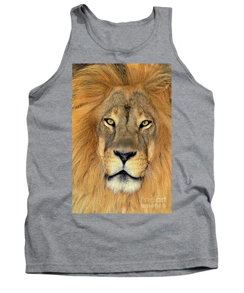 Tank Top featuring the photograph African Lion Portrait Wildlife Rescue by Dave Welling