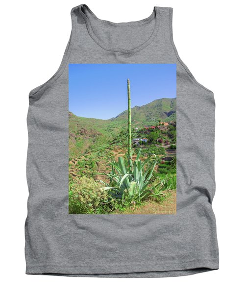 Agave With Flower Spear In Masca Tank Top