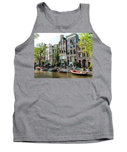 Along An Amsterdam Canal Tank Top