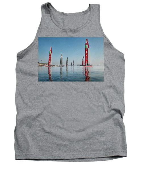 America Cup Boat Reflections Tank Top