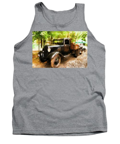 Antique Black Truck Tank Top