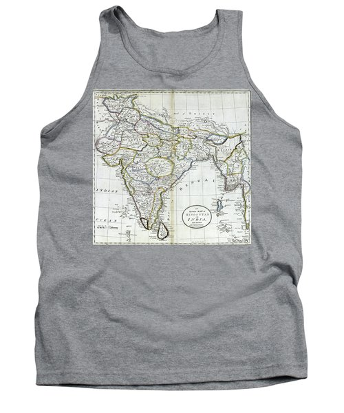 Antique Map Of India   Tank Top