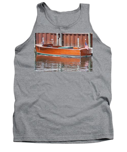 Antique Wooden Boat By Dock 1302 Tank Top