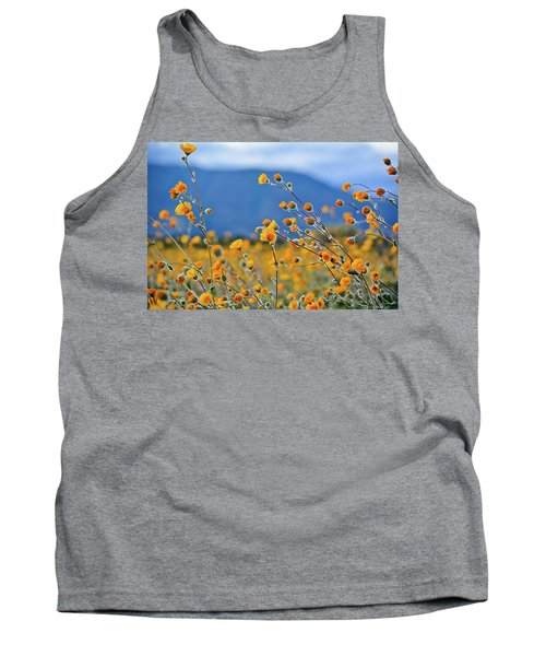 Tank Top featuring the photograph Anza Borrego Wild Desert Sunflowers by Kyle Hanson