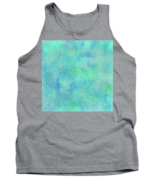 Aqua Batik Print Coordinate Tank Top
