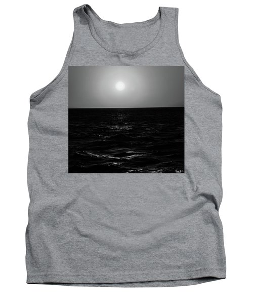 Aruba Sunset In Black And White Tank Top