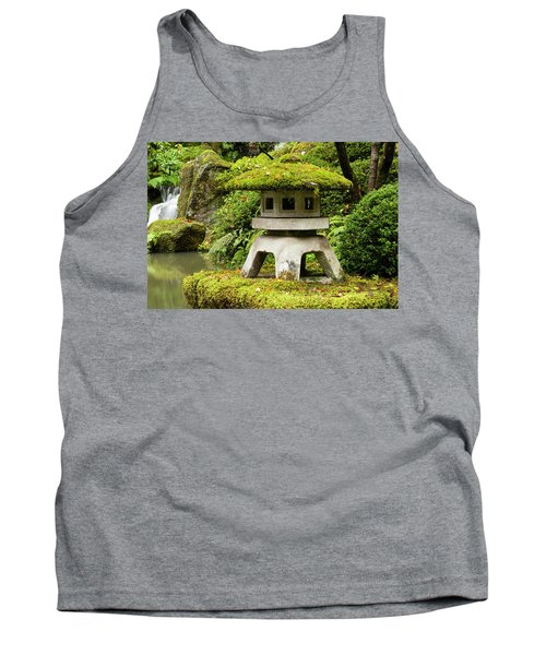 Autumn, Pagoda, Japanese Garden Tank Top